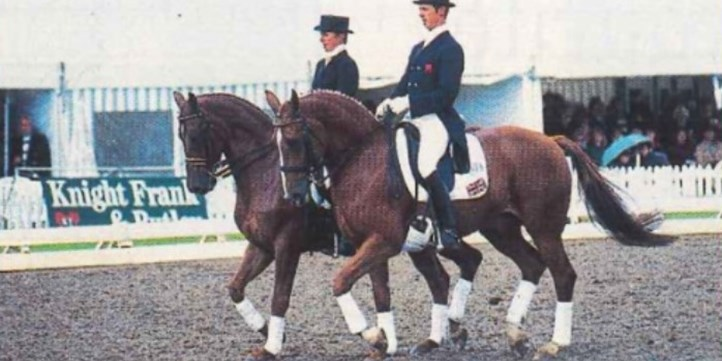 Vicky Thompson-Winfield with Enfant and Carl Hester with Gershwin
