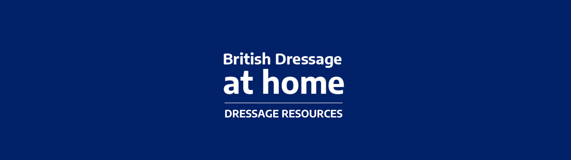 BD At Home Dressage Resources Banner