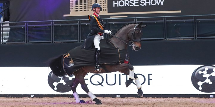 Carl Hester And Nip Tuck. Liverpool International Horse Show 2019