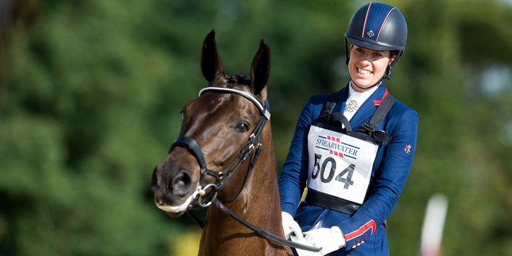 Young horse smiling Charlotte Dujardin