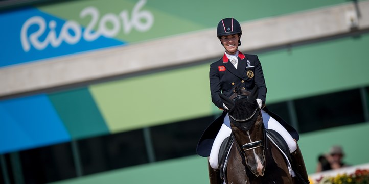 Charlotte and Valegro smile
